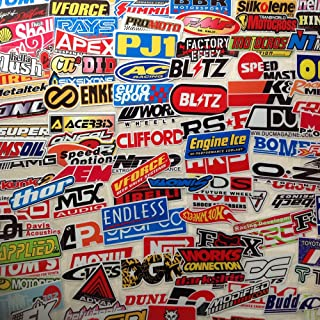 98pcs Car Sticker Pack JDM Accessories Racing Decale for Cars Motorcycle Decals Helmet Graphics Hard Hat Stickers