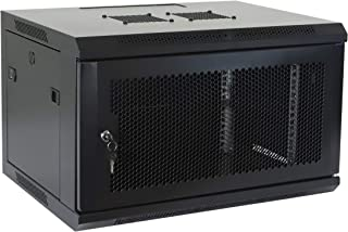 6U Professional Wall Mount Network Server Cabinet Enclosure 19-Inch Server Network Rack Black