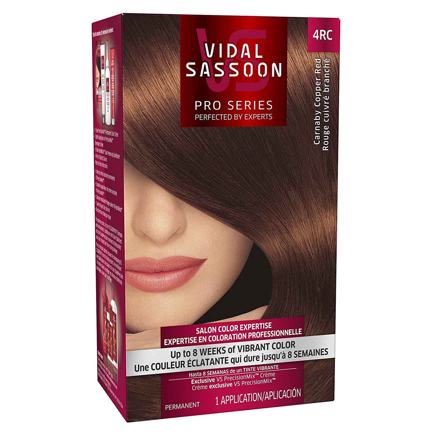 Vidal Sassoon Pro Series Hair Color Kit 1 Red Dark Recommendation 4RC Max 46% OFF Copper