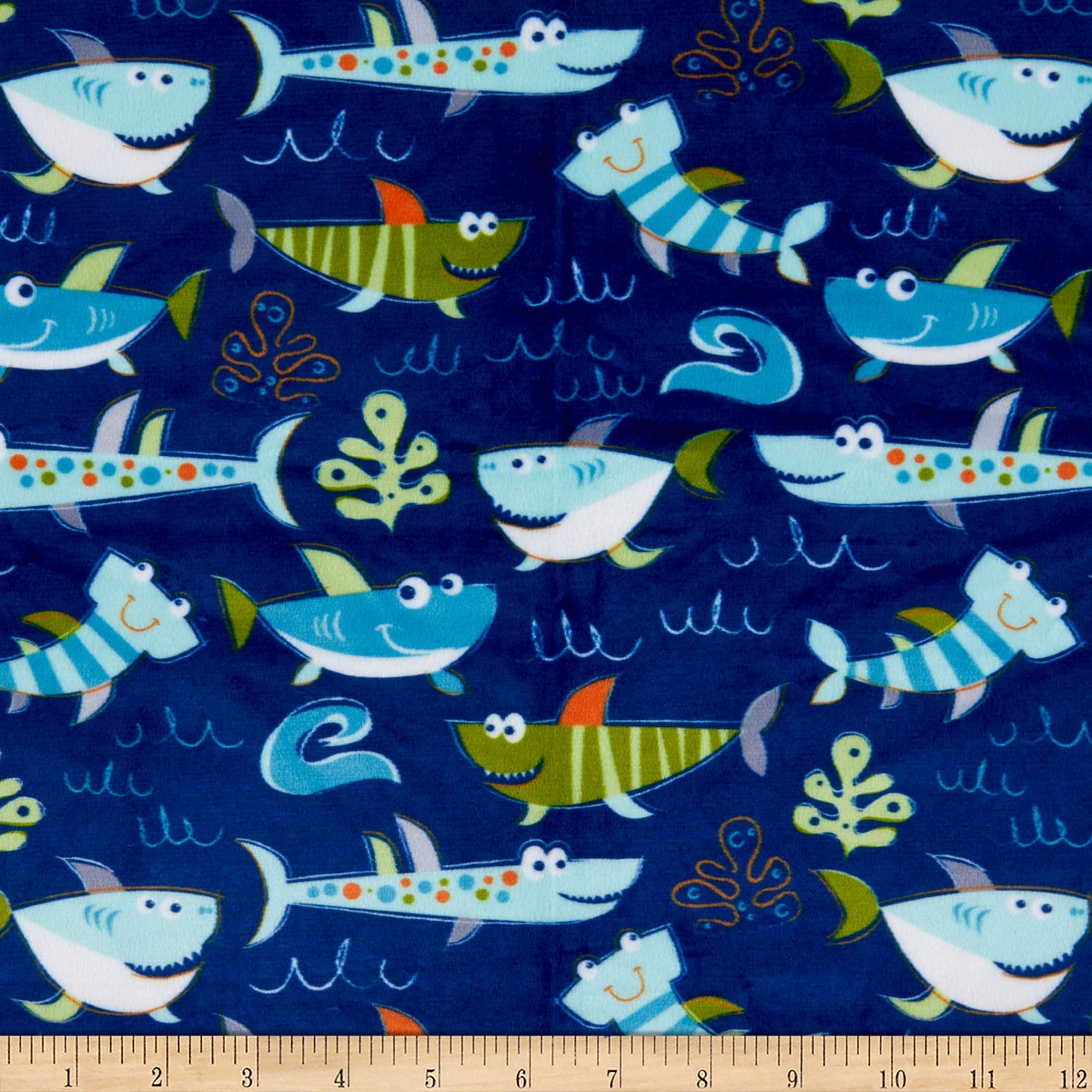 QT461 Quilting Treasures Dream Boat Ocean Fish Ocean Aqua 100/% cotton Fabric by the yard 36x43 Fish Fabric Cartoon Fabric