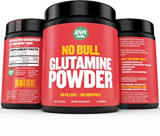 Glutamine Powder - Pure, Unflavored and Micronized L-Glutamine Amino Acid Supplement - 300g, 10.5oz, 60 Servings - Non GMO...