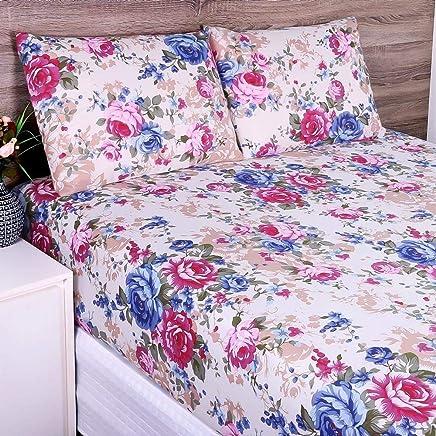 6140d1496b Jogo de Cama Solteiro Estampado Fresh 02 Peças - Branco Rosa Cor 08