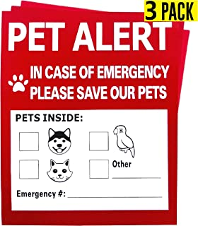 Pet Alert Safety Fire Rescue Sticker,in Case of Fire Notify Rescue Personnel to Save