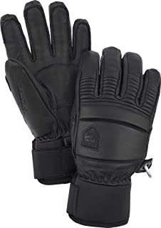 Hestra Leather Fall Line - Short Freeride 5-Finger Snow Glove with Superior Grip for Skiing and Mountaineering