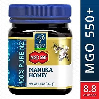 Manuka Health - MGO 550+ Manuka Honey, 100% Pure New Zealand Honey, 8.8 Ounces