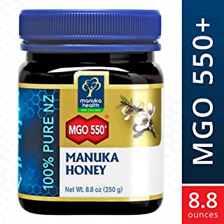 Manuka Health - MGO 550+ Manuka Honey, 100% Pure New Zealand Honey, 8.8 Ounce