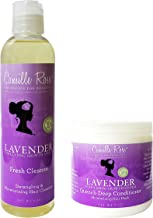 Camille Rose Lavender Quench Deep Conditioner 8 Oz. and Fresh Cleanse 8 Oz. SET