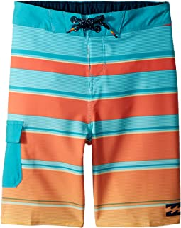 Billabong Kids All Day X Stripe Boardshorts (Toddler/Little Kids)