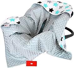 BabyLux Baby EINSCHLAGDECKE 90x90 cm Babyschale Kinderwagen Buggy Minky Decke 8. Grau  Sterne
