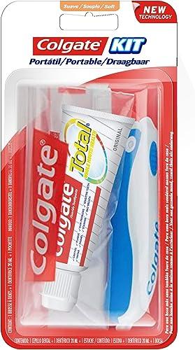 COLGATE - Kit de Voyage Colgate Total Original - Mini-Brosse à Dents Souple + Mini-Dentifrice (20 ml) - Coloris aléat...