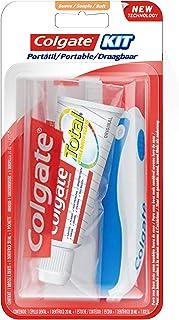 Colgate Total Original reisset voor onderweg, mini-borstel, zacht, 20 ml, willekeurige kleurkeuze