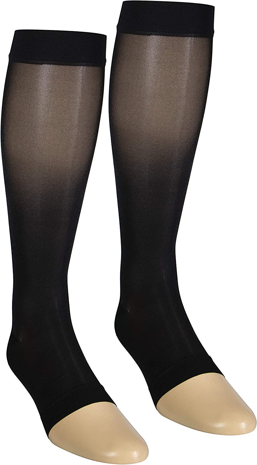 Today's only Max 56% OFF NuVein Sheer Compression Stockings Fashion Sheen Silky Op Denier
