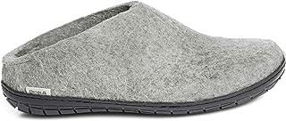 Glerups Unisex BR-01-02 - Felt Slippers with Rubber Sole 50 M Grey-Black