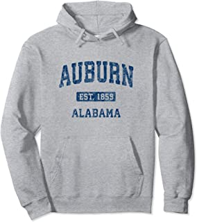 Auburn Alabama AL Vintage Athletic Sports Design Pullover Hoodie