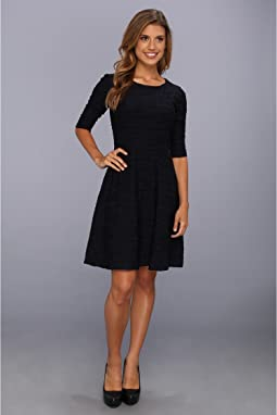 Donna Morgan - Three-Quarter Sleeve Dress w/Full Skirt