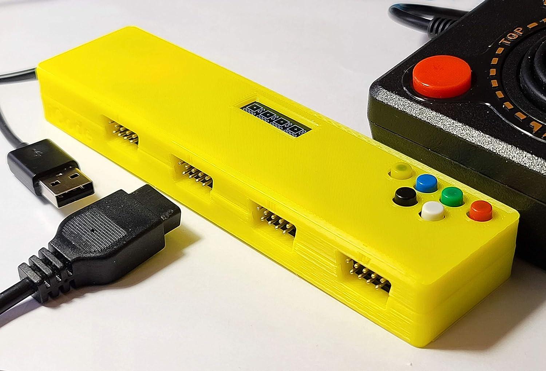 Retro USB Adapter for Atari Joysticks and Paddles - 4 Port/Players