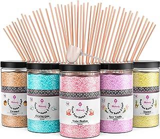 Misskandy, sucre barbe à papa pour machine/ lot de (5*300Gr)= 1,5kg/ arômes :Fraise, Vanille, Ananas, Caramel, Chewing-gu...