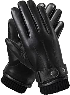 mens leather gloves with thinsulate