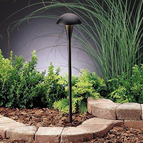 high quality Kichler online sale 15323BKT Eclipse Path & Spread 1-Light 12V, outlet online sale Textured Black sale