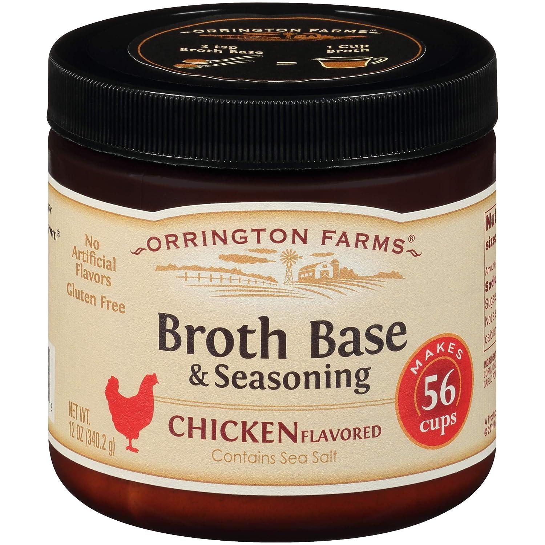 Orrington Farms Chicken Flavored Broth Base  Seasoning, 12-Ounc