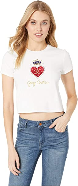 Royal Heart Rib Tee