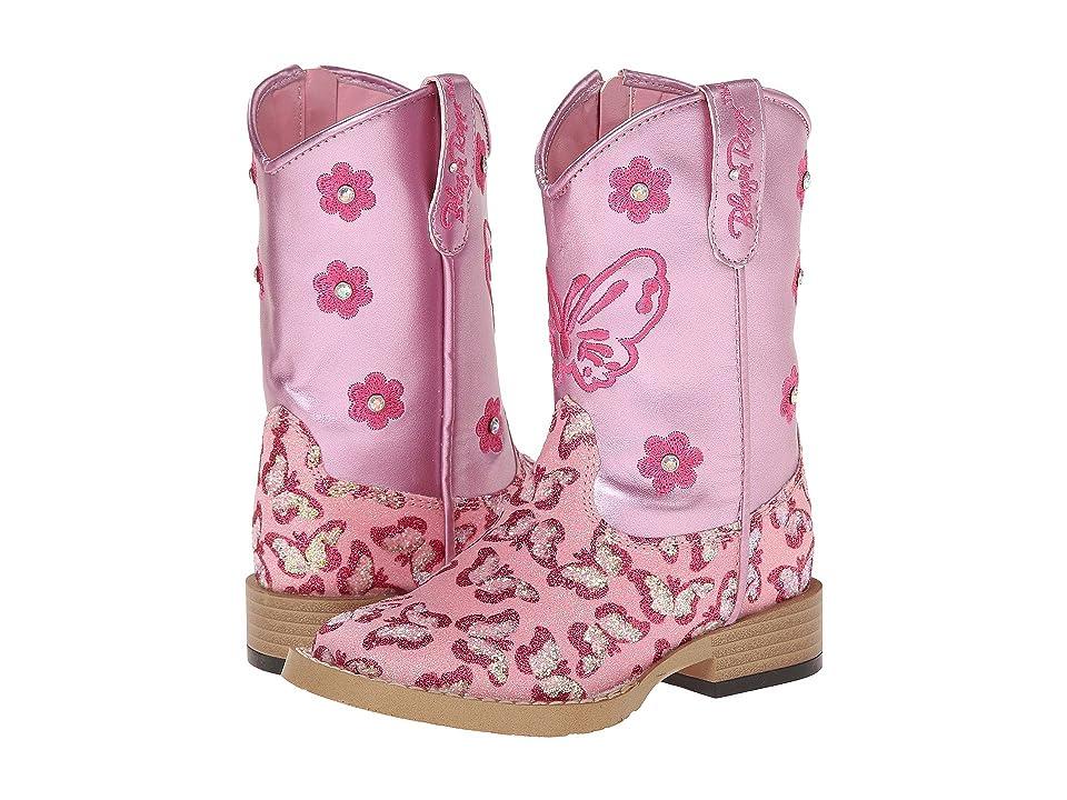 M&F Western Kids Pecos (Toddler) (Pink) Cowboy Boots
