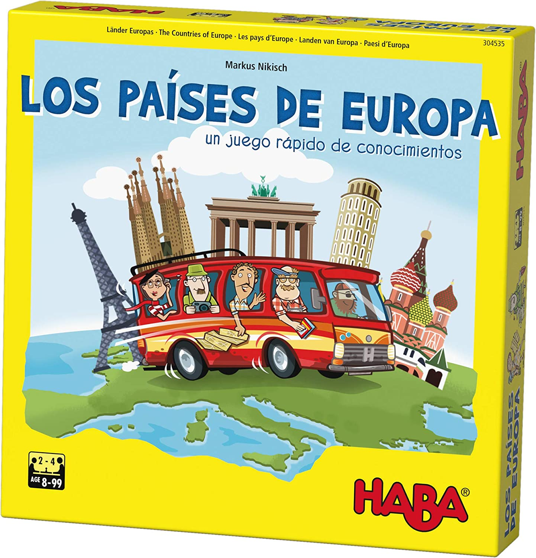 HABA- Juego de Mesa, Los Países de Europa, Multicolor (Habermass H304535)