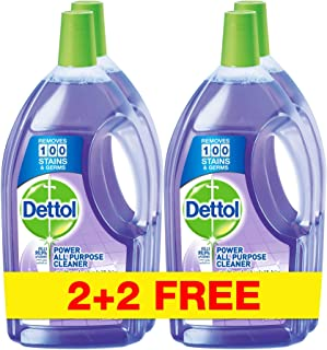 Dettol Power All Purpose Cleaner - Lavender, 4 x 900ml