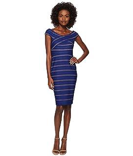 Jessa - Off the Shoulder Knit Stripe Dress