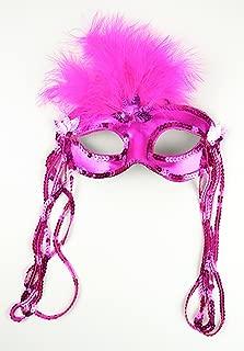 Mask It 71085 Pink Satin Half Mask