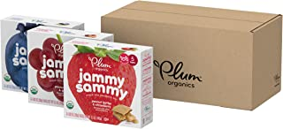 Plum Organics Jammy Sammy Toddler Snack Bars, Variety Pack, 6 Boxes (5 Bars Per Box, 30 Bars Total)