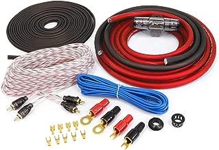 KnuKonceptz Red KCA Complete 4 Gauge Amplifier Installation Wiring Kit