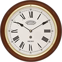 Seiko Wall Clock (28.2 cm x 28.2 cm x 4.4 cm, Brown, QXA144BN)