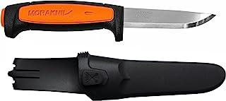 Morakniv Craftline Basic 546 Cuchillo de Hoja Fija con Hoja Sandvik de Acero Inoxidable y Hoja Combi-Sheath, 3.6 Pulgadas