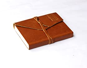 Leather Journal Writing Notebook - Antique Handmade Leather Natural Paper Daily Notepad for Men & Women Unlined Paper, Best Gift for Art Sketchbook, Travel Diary & Notebooks to Write in