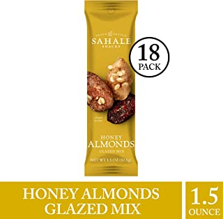 Sahale Snacks Honey Almonds - Nut Snacks in a Grab 'n Go Pouch, No Artificial Flavors, Preservatives or Colors, Gluten-Free Snacks, 1.5 Ounce (Pack of 18)