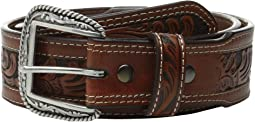Tapered Embossed Inlay Belt