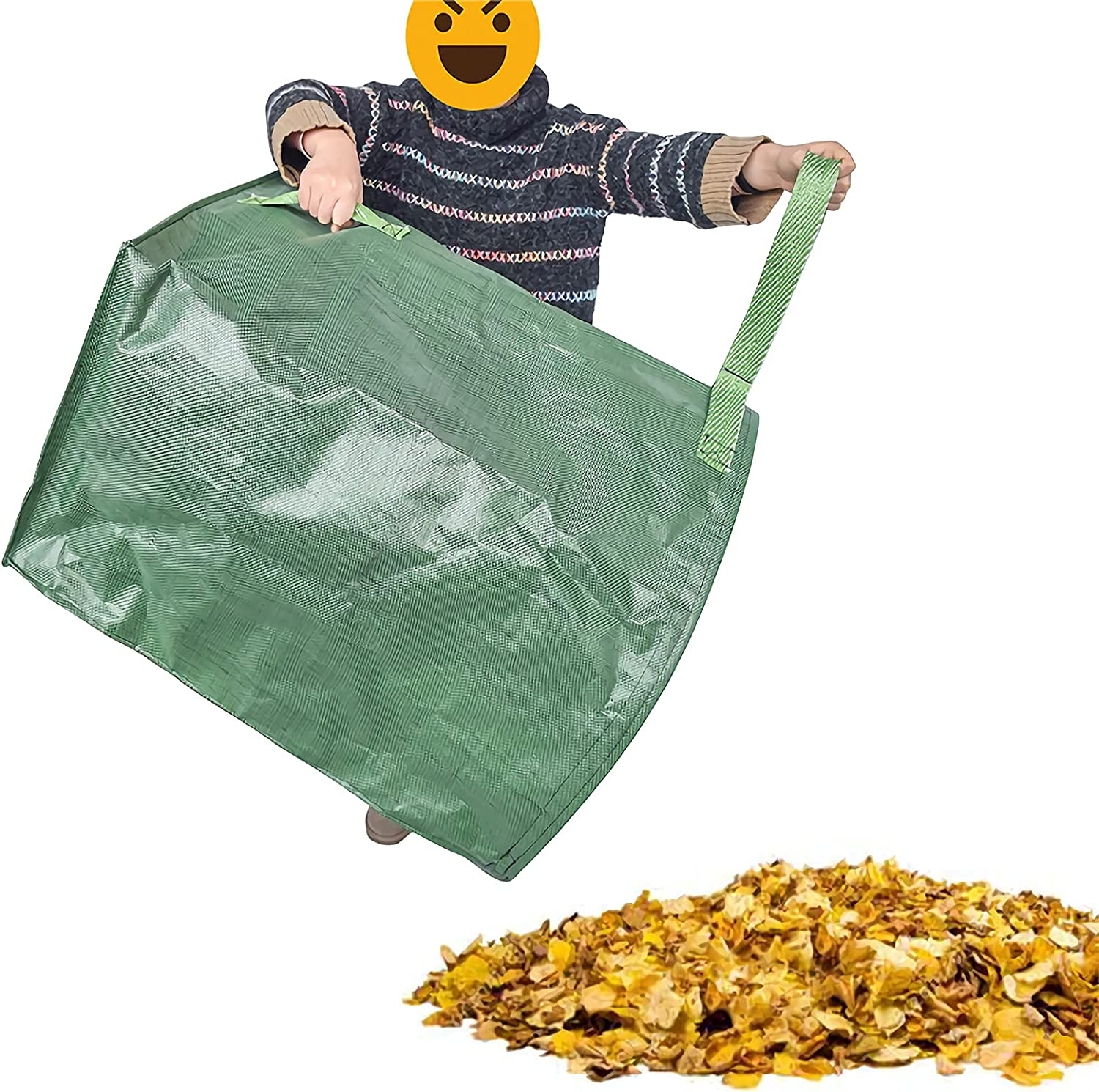 Reusable Limited time trial price Yard Waste Bags We OFFer at cheap prices Large-Capacity Portable Garb Leaf Green