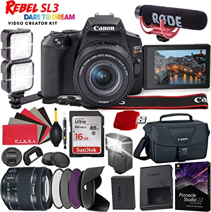 $789 Get Canon EOS Rebel SL3 DSLR Camera (Black) with 18-55mm Lens - 24.1 MegaPixels - 4K Video - Video Kit Bundle