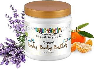 Organic Baby Booty Butter 10oz. Diaper Rash Treatment w/Mandarin Orange Extract & Lavender for Dry, Sensitive Skin