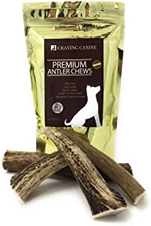 Craving Canine Grade A USA Deer Antlers for Dogs! Odorless, Split-Resistant Horns for Aggressive Chewers! Long Lasting & Easy to Digest Antler Full of Glucosamine for Healthy Joints! 1 lbs