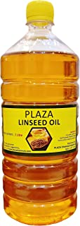 PLAZA Plastic Pure Linseed Oil for Wood Polishing and Strength (Pack of 1L, Pale Yellow)