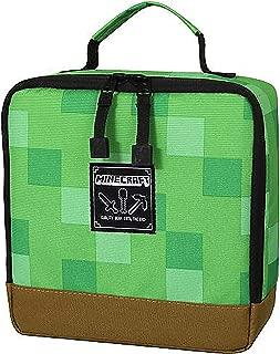 JINX Minecraft Creeper Block Insulated Kids School Lunch Box, Green, 8.5