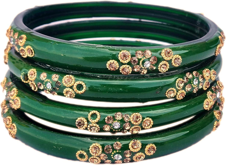JD'Z Collection Indian Glass Bangles Multi Color Bracelet Fashion Wedding Wear Glass Bangles Set
