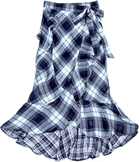 00d34917b3b Max Studio London Womens Plaid Wrap Maxi Skirt
