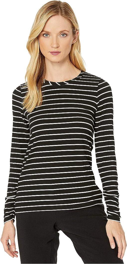 Rib Stripe Black/Ivory