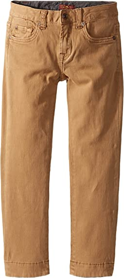 7 For All Mankind Kids - Stretch Twill Slimmy Pants in Khaki (Little Kids/Big Kids)