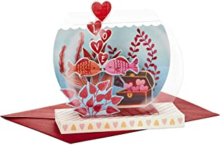 Hallmark Paper Wonder Displayable Pop Up Valentines Day Card for Significant Other (Fish Bowl Valentine)