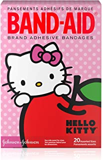 Band-Aid Brand Adhesive Bandages for Minor Cuts, Hello Kitty Characters, Assorted Sizes, 20 ct (Pack of 3)