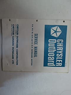 Chrysler Outboard 9.6 9.9 10 12.9 and 15 HP Outboard Motors Service Manual ***